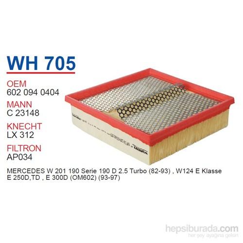 Wunder MERCEDES 124 KASA E250 TD - E300 TD - 201 KASA 190 2.5 TD Hava Filtresi OEM NO:6020940404