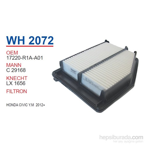 Wunder HONDA CiViC Y.M 2012+ Hava Filtresi OEM NO:17220-R1A-A01