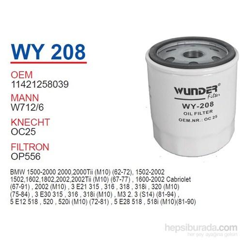 Wunder BMW E21 M10 Yağ Filtresi OEM NO:11421258039