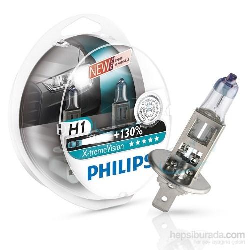 Philips H1 X-treme Vision 2'li Ampul Seti- %130 DAHA FAZLA IŞIK