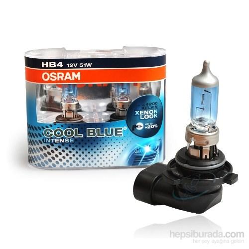 Osram HB4 Cool Blue İntense 2'li Ampul Seti * BEYAZ IŞIK ETKİSİ