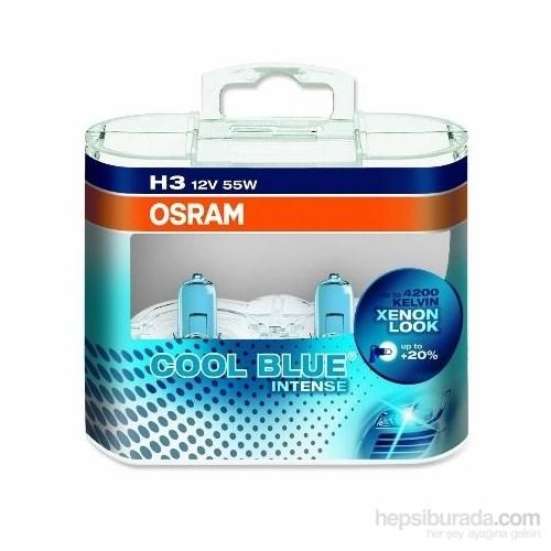 Osram H3 Cool Blue İntense 2'li Ampul Seti * BEYAZ IŞIK ETKİSİ