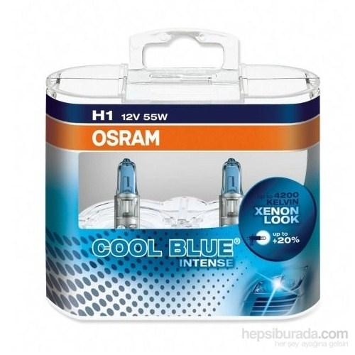 Osram H1 Cool Blue İntense 2'li Ampul Seti * BEYAZ IŞIK ETKİSİ