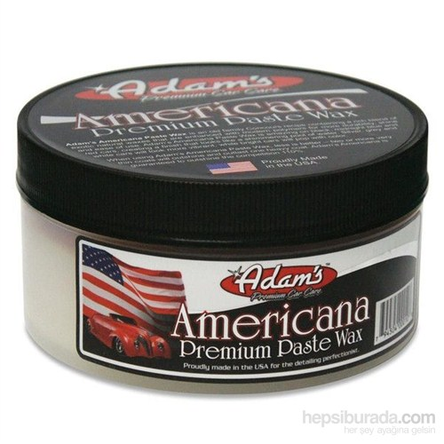 Adam's Polishes Americana Premium Paste Wax - Parlatıcı Koruyucu Katı Cila