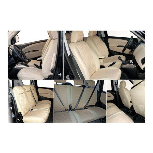 Z techMercedes C - 2000 sonrası Krem (Bej) renk araca özel oto koltuk kılıfı