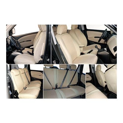Z tech Citroen C4 hb Krem (Bej) renk Araca özel Oto Koltuk Kılıfı
