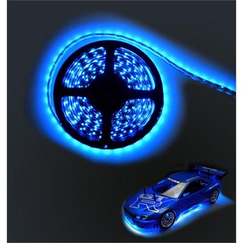 AutoCsi 5mt Neon Mavi Şerit Silikonlu Elastik Led 12 volt 11055