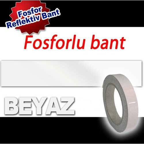 AutoCet 4 cm x 10 Metre BEYAZ Fosfor Bant (11656)