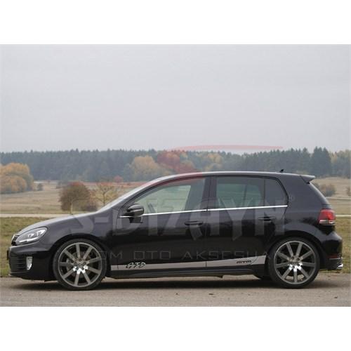 S-Dizayn Volkswagen Golf 6 Krom Cam Çıtası 4 Prç.