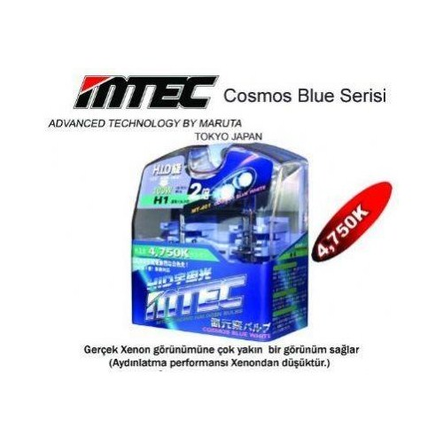 MTEC Cosmos Blue White H1 Xenon Tip Ampül Seti 5697