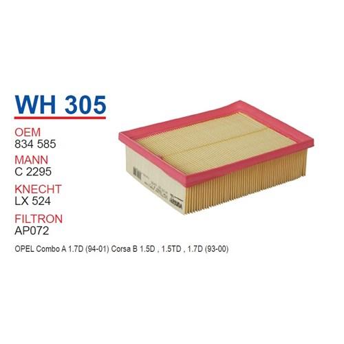 Wunder OPEL Combo B Kasa 1.7 Diesel Hava Filtresi OEM NO: 834585