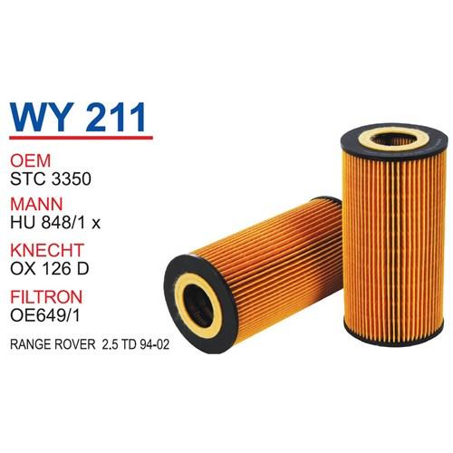 Wunder RANGE ROVER 2.5 TD 1994 - 2002 Arası Yağ Filtresi OEM NO:STC 3350