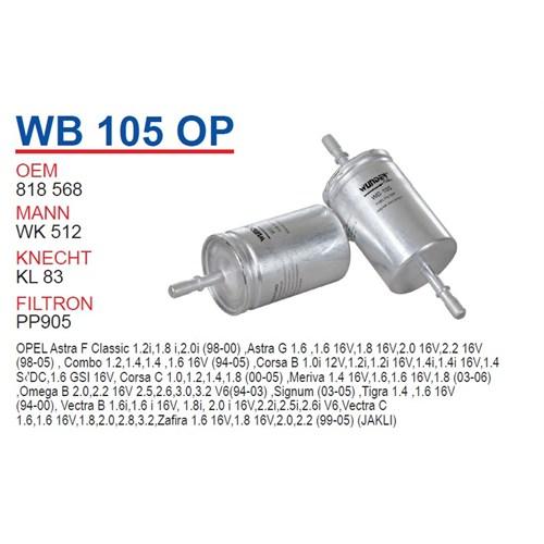 Wunder OPEL Corsa Tırnaklı Tip Benzin Filtresi OEM NO: 818568