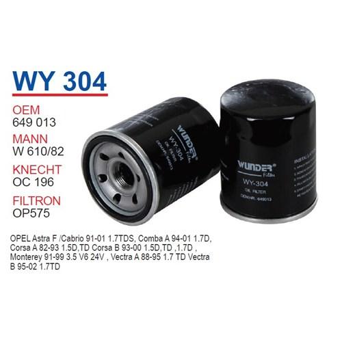 Wunder OPEL Corsa B Kasa Yağ Filtresi OEM NO: 649013