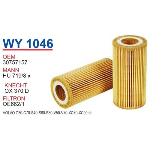 Wunder VOLVO S40 T5 Yağ Filtresi OEM NO:30757157
