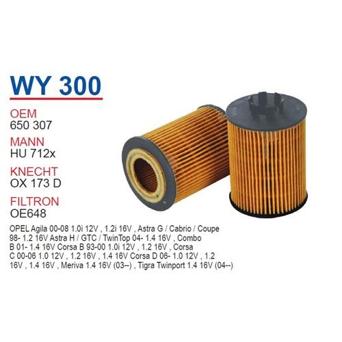Wunder OPEL Astra G Kasa 1.2 Yağ Filtresi OEM NO: 650307
