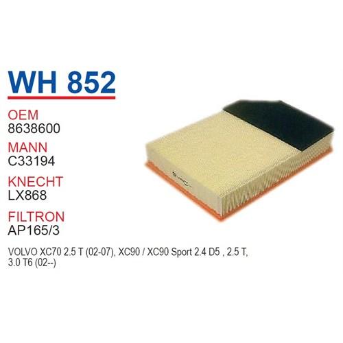 Wunder VOLVO XC 70 2.4 T - 2.5 T Hava Filtresi OEM NO:8638600