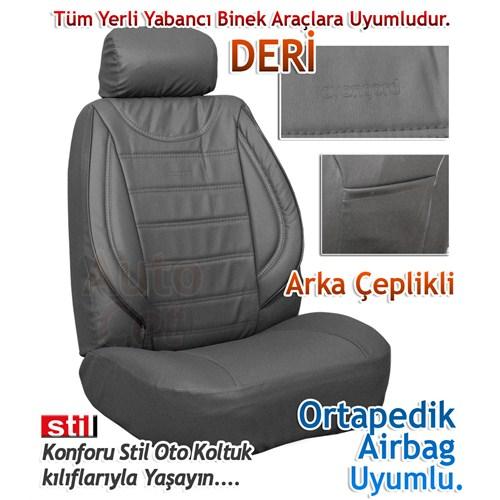 Stil Avangard GRİ İthal Winleks DERİ Koltuk Kılıfı (30175)