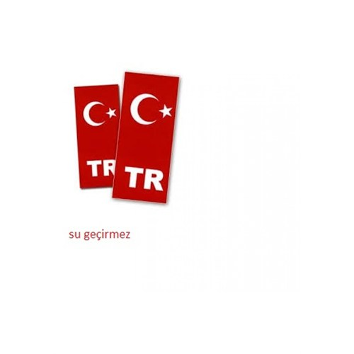 Schwer su geçirmez PVC plaka türk bayrağı Sticker ön arka