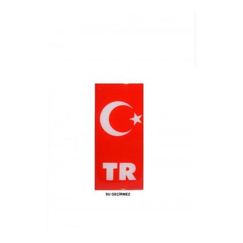 Schwer su geçirmez PVC plaka türk bayrağı Sticker