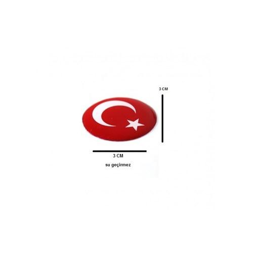 Schwer Su Geçirmez PVC Türk Bayrağı Sticker (2li)