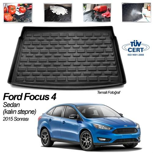 Ford Focus 4 Sedan Bagaj Havuzu Kalın Stepne 2015