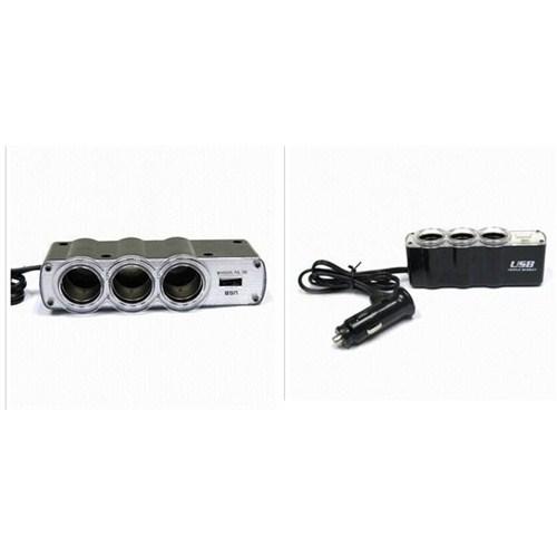ModaCar 1 Çakmaktan 1 USB 3 Çakmak Çıkış Çoklayıcı 842083