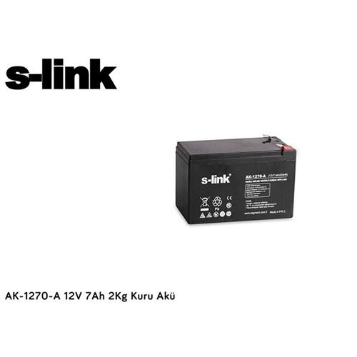 S-Link Ak-1270-A 12V 7Ah 2Kg Kuru Akü