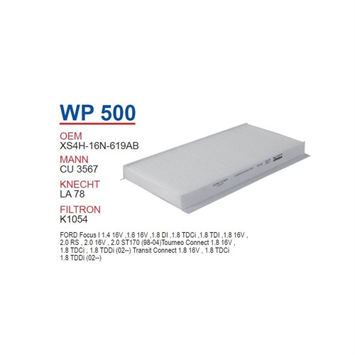 Wunder Ford Focus 1998>> Polen Filtresi Oem No: Xs4h - 16N - 619Ab