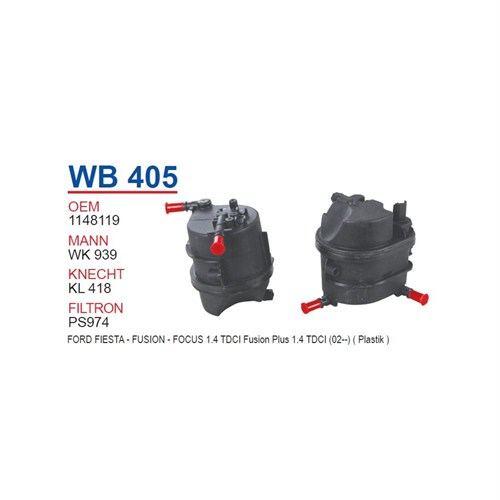 Wunder Ford Focus 1.4 Tdcı Mazot Filtresi Oem No: 1148119