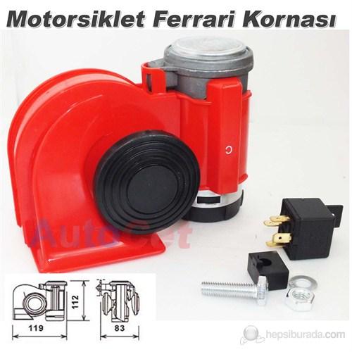 AutoCet Motorsiklet F1 Formula Ferrari Kornası (11728)