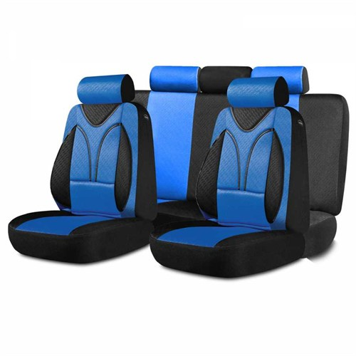 Ortopedia Ortopedik Koltuk Kılıfı Mavi Siyah
