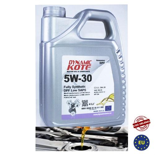 Dynamic Kote 5W-30 Motor Yağ Partikül Filtreli Araçlar 4 Litre (Benzin,Dizel)