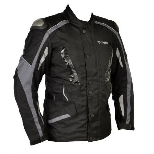 Prohel Botari Kışlık Uzun Motosiklet Montu (Gri-Siyah)