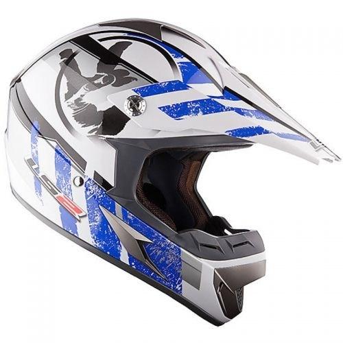 Ls2 Mx 433 Stripe Kross Kaskı (Mavi-Beyaz)