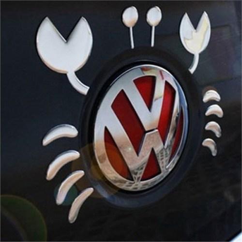 Solfera Yengeç Araba Otomobil Stıckerı Etiket Cs026