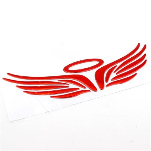 Solfera Melek Kanatları Otomobil Sticker Kırmızı Cs027