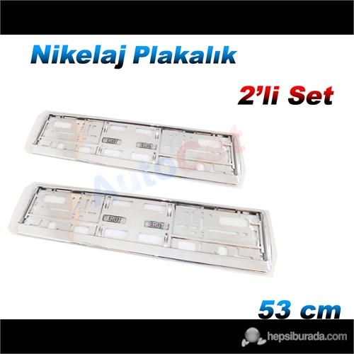 AutoCet 53 cm Nikelaj M104 Plakalık 2´li Set (51453)