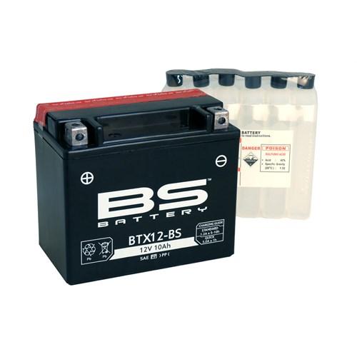 Bs-Battery Btx12-Bs (Ytx12-Bs) 12V 10Ah 180Cca Agm Bakımsız Motosiklet Aküsü
