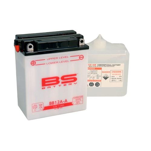 Bs-Battery Bb12a-A (Yb12a-A) 12V 12Ah 165Cca Standart Tip Motosiklet Aküsü