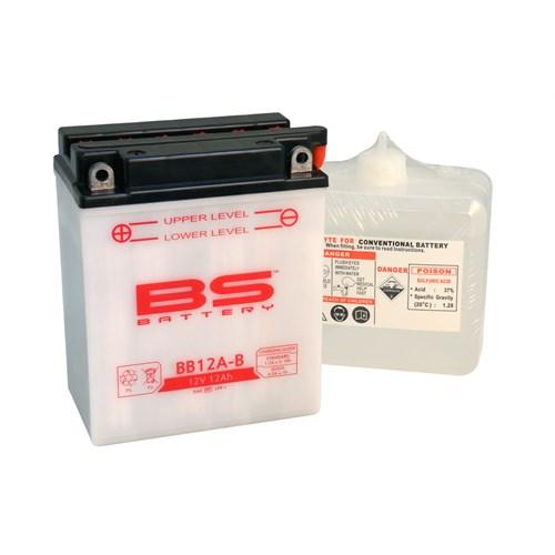 Bs-Battery Bb12a-B (Yb12a-B) 12V 12Ah 165Cca Standart Tip Motosiklet Aküsü