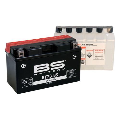 Bs-Battery Bt7b-Bs (Yt7b-Bs) 12V 6,5Ah 85Cca Agm Bakımsız Motosiklet Aküsü