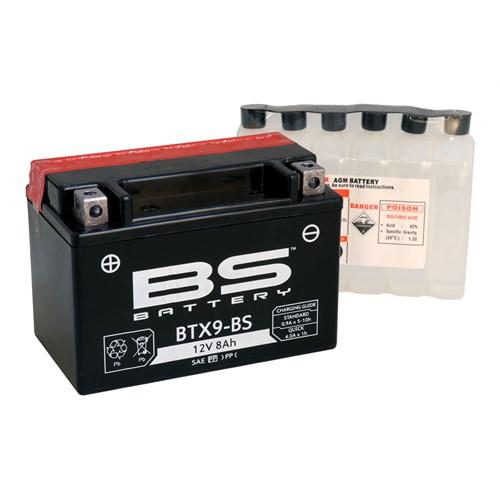 Bs-Battery Btx9-Bs (Ytx9-Bs) 12V 8Ah 120Cca Agm Bakımsız Motosiklet Aküsü