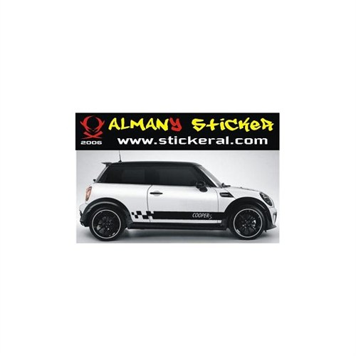 Sticker Masters Mini Cooper S Yan Şerit Sticker
