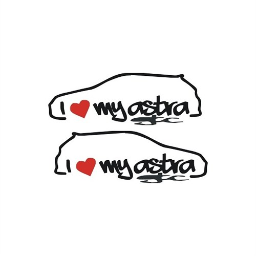 Sticker Masters I Love My Astra Sticker
