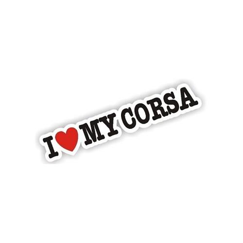 Sticker Masters I Love My Corsa Sticker