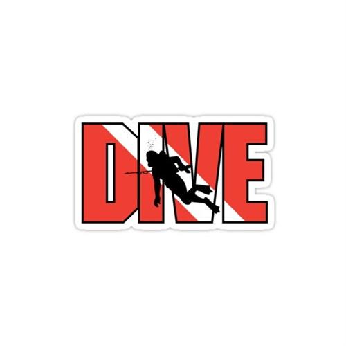 Sticker Masters Dive Dalgıç Sticker