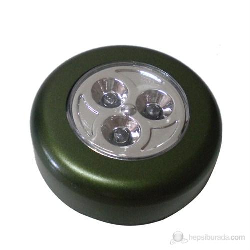Autocsi Dokunmatik 3 Ledli Yapışkanlı Tavan Lambası Yeşil 11299
