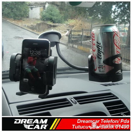Dreamcar Pda/Telefon/Navigasyon Tutucu+ Bardaklık Spralli Vantuzlu/Kalorifer Aparatlı 01490