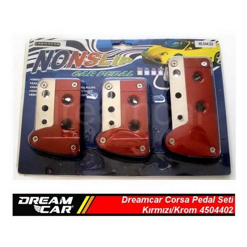 Dreamcar Corsa Pedal Seti Kırmızı/Krom 4504402